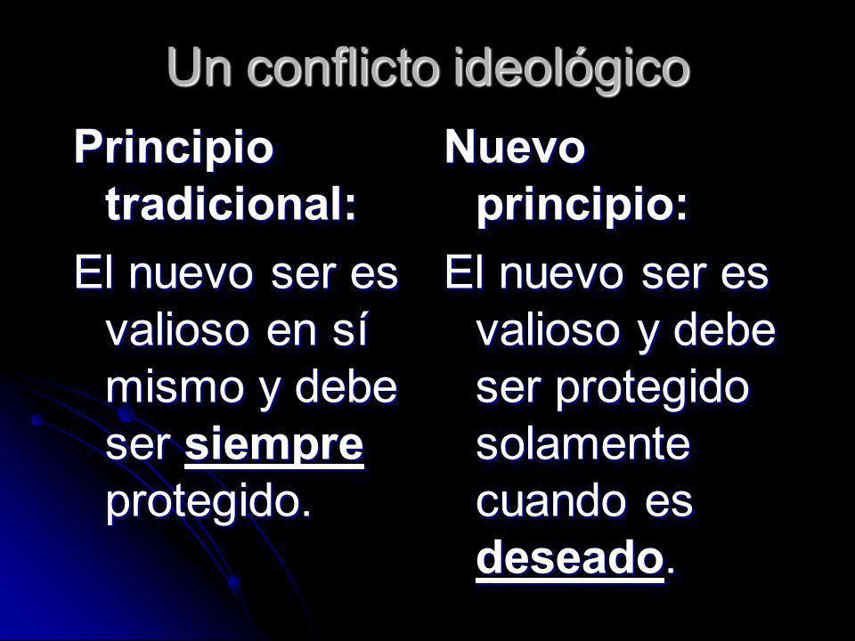 Un conflicto ideológico