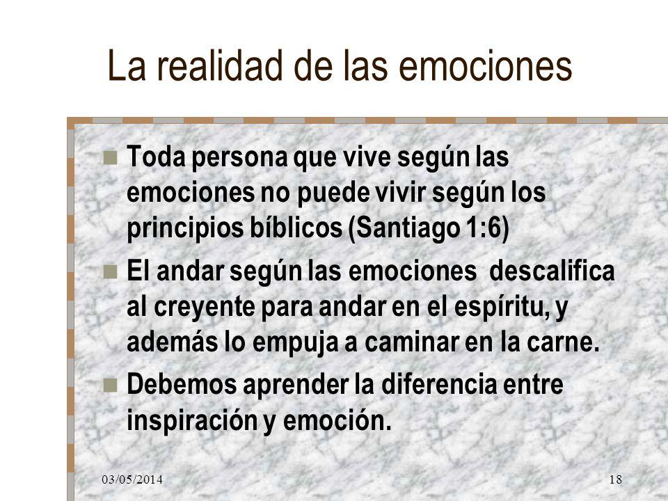 La realidad de las emociones