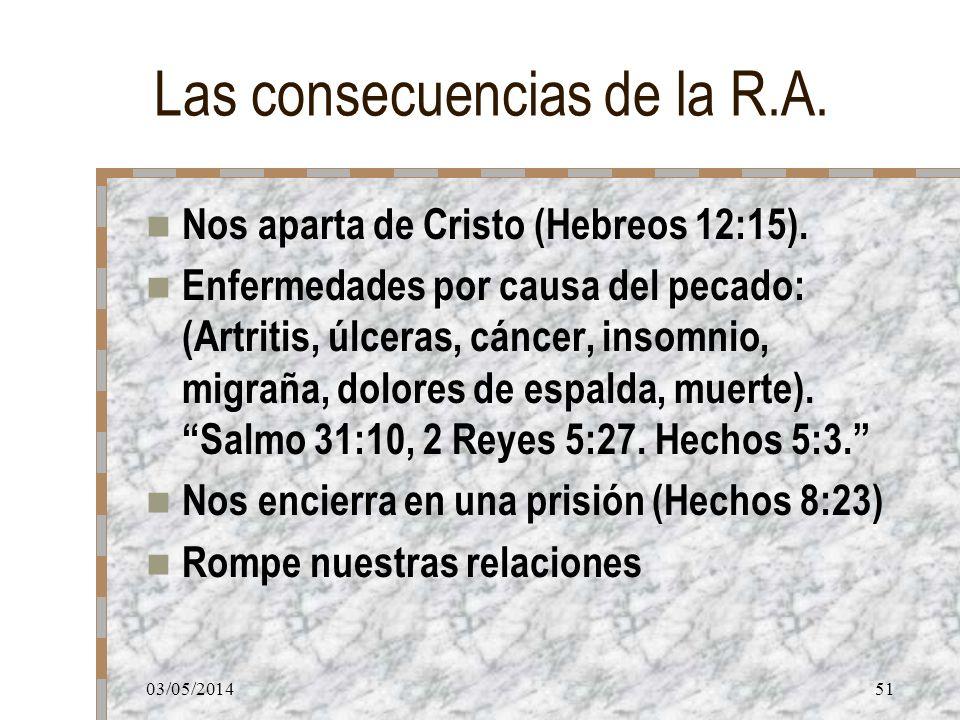 Las consecuencias de la R.A.