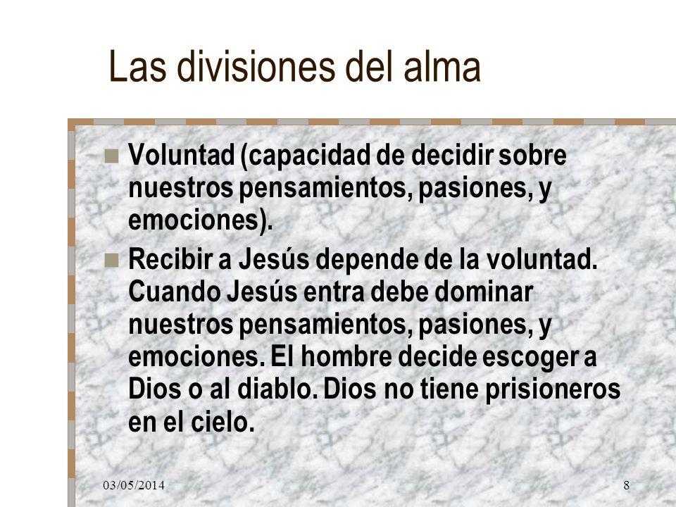 Las divisiones del alma
