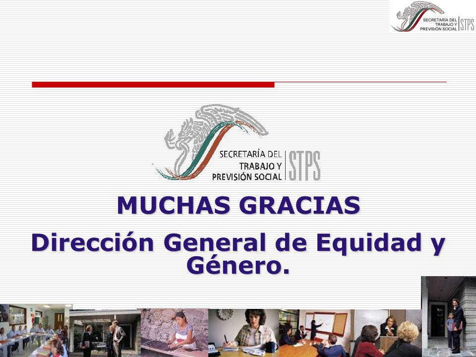 Dirección General de Equidad y Género.