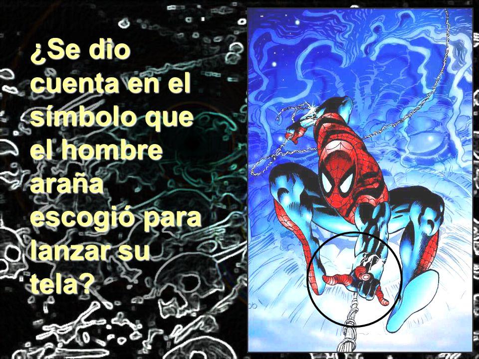 ¿Se dio cuenta en el símbolo que el hombre araña escogió para lanzar su tela