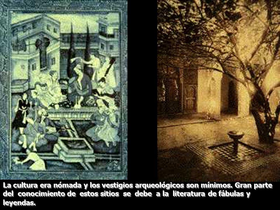 La cultura era nómada y los vestigios arqueológicos son mínimos