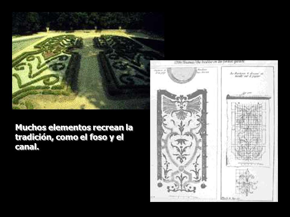Muchos elementos recrean la tradición, como el foso y el canal.