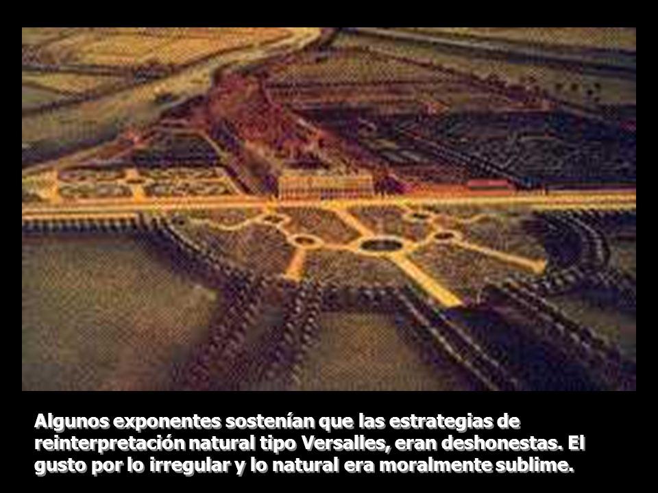 Algunos exponentes sostenían que las estrategias de reinterpretación natural tipo Versalles, eran deshonestas.