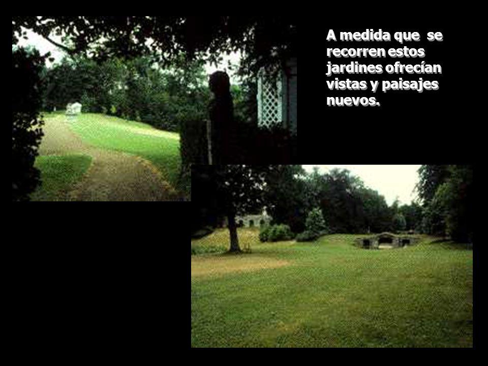 A medida que se recorren estos jardines ofrecían vistas y paisajes nuevos.