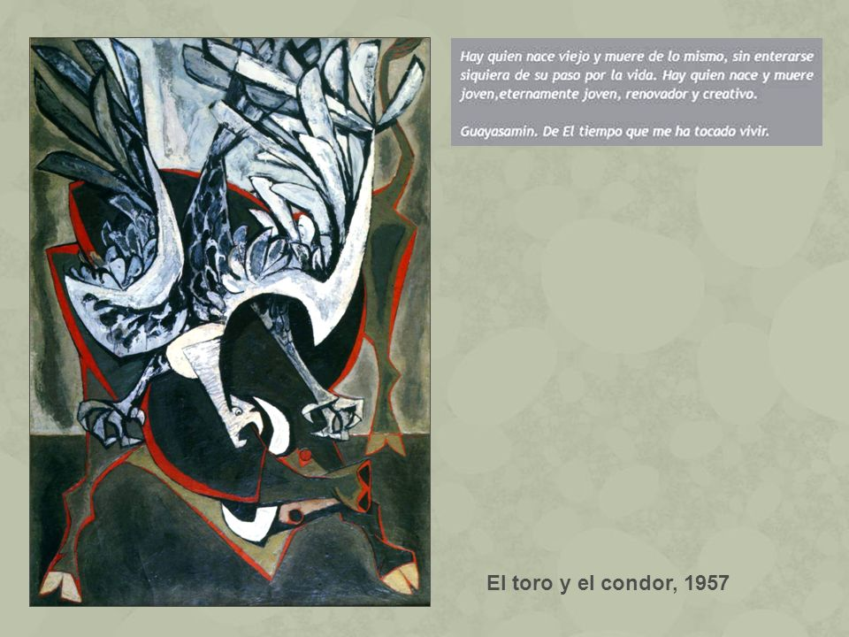 El toro y el condor, 1957