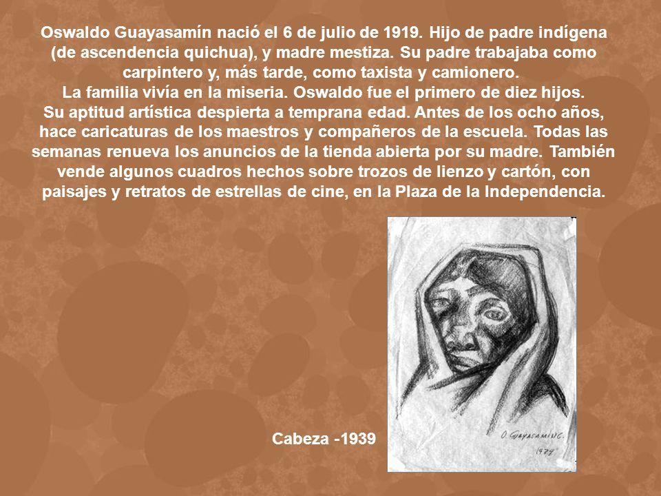 La familia vivía en la miseria. Oswaldo fue el primero de diez hijos.