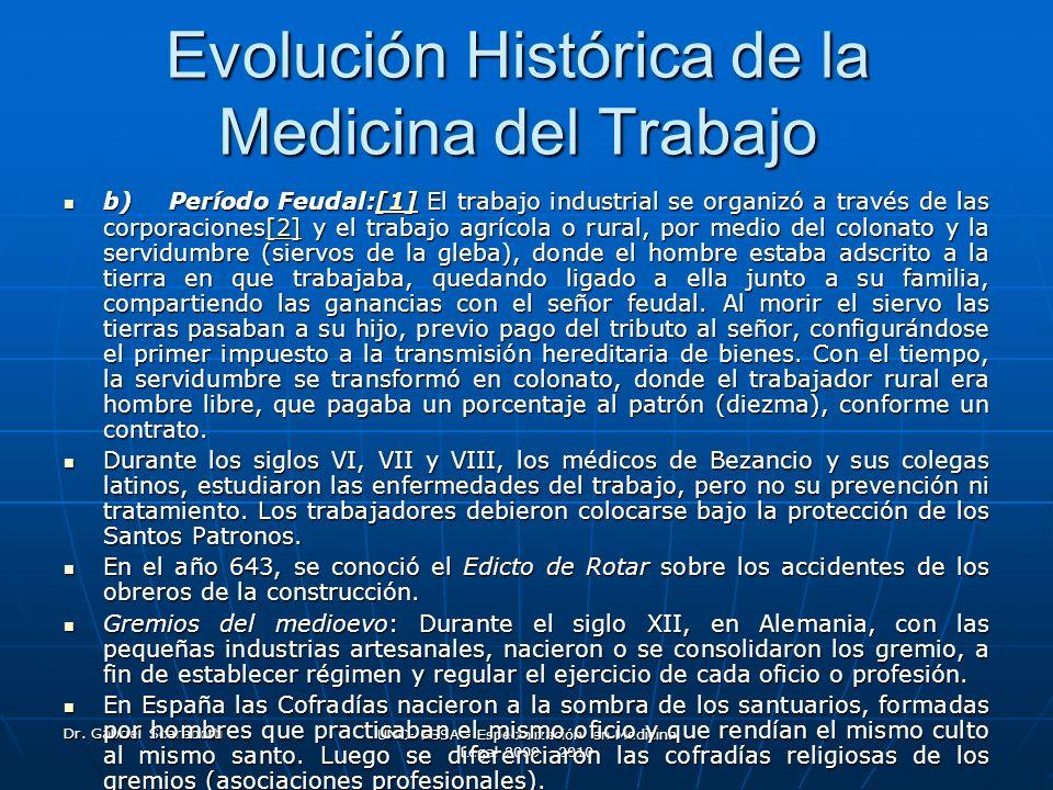 Evolución Histórica de la Medicina del Trabajo