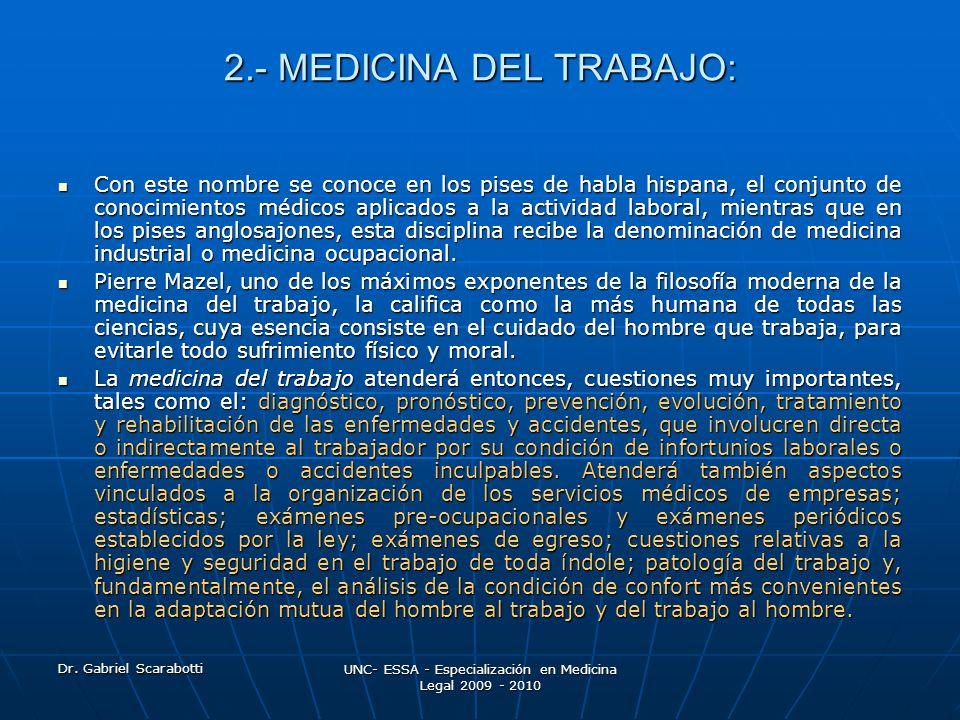 2.- MEDICINA DEL TRABAJO: