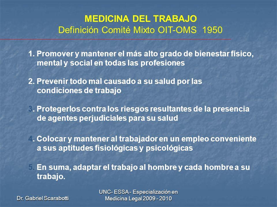 Definición Comité Mixto OIT-OMS 1950