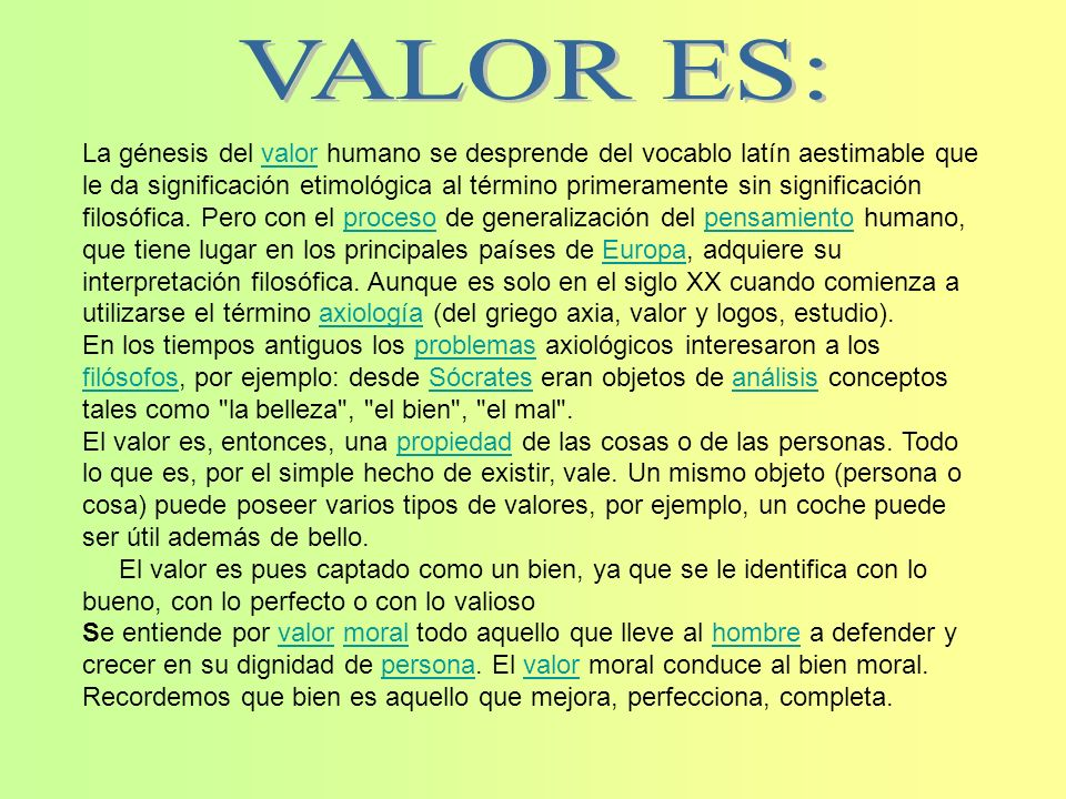 VALOR ES: