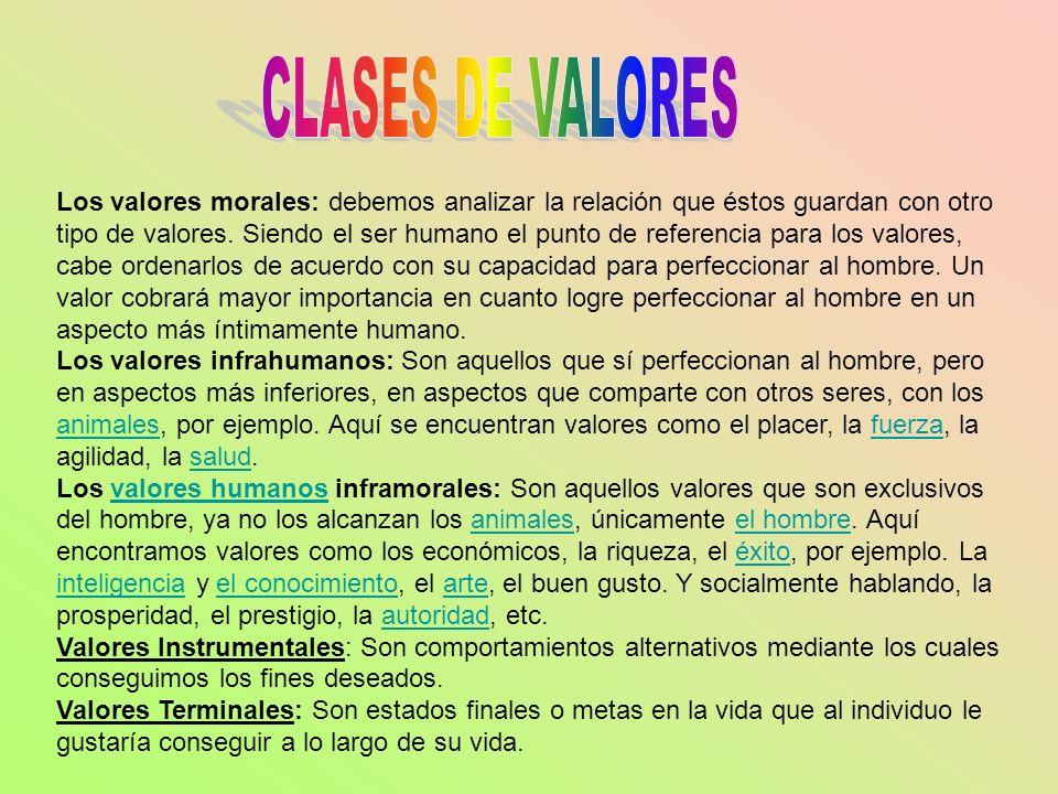 CLASES DE VALORES