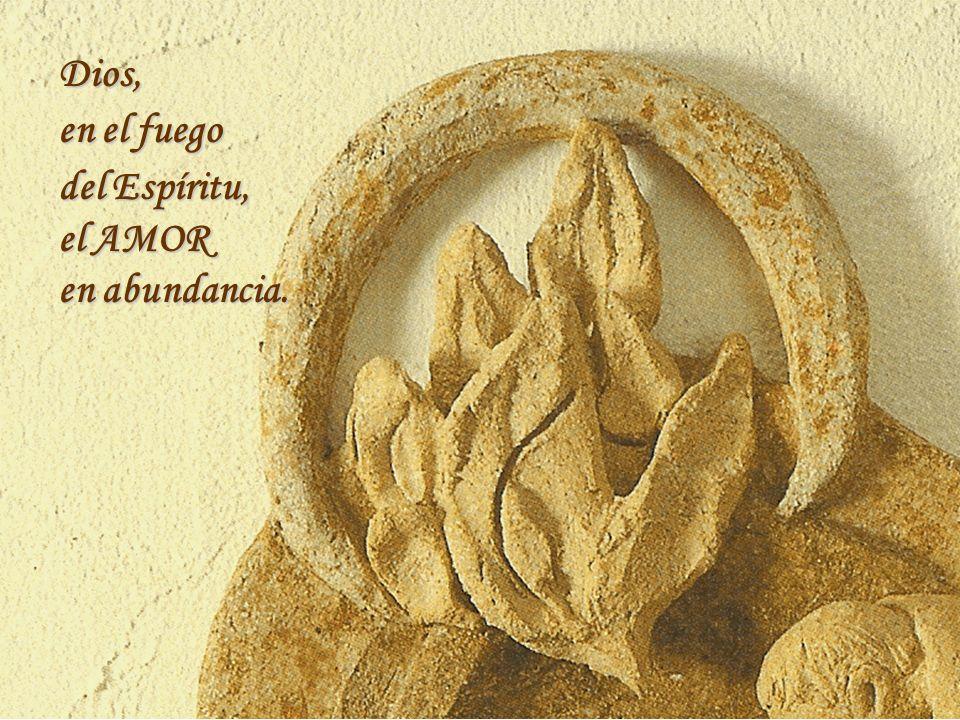 Dios, en el fuego del Espíritu, el AMOR en abundancia.
