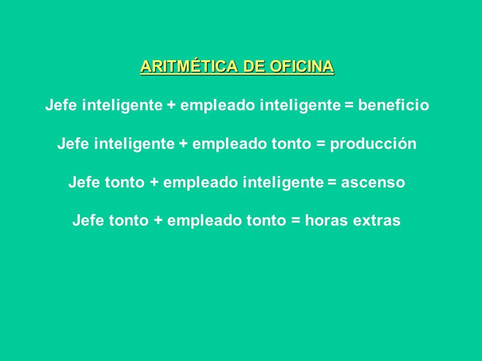 ARITMÉTICA DE OFICINA