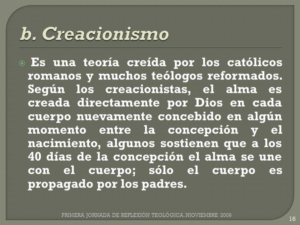 b. Creacionismo
