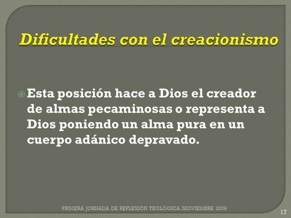 Dificultades con el creacionismo
