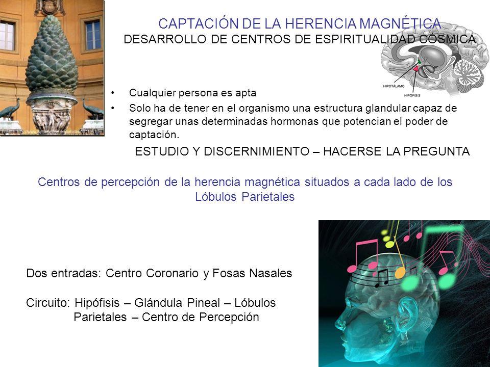 CAPTACIÓN DE LA HERENCIA MAGNÉTICA DESARROLLO DE CENTROS DE ESPIRITUALIDAD CÓSMICA