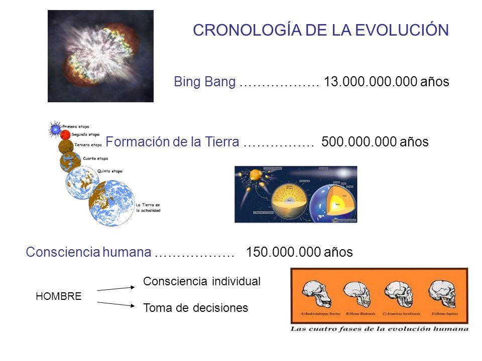 CRONOLOGÍA DE LA EVOLUCIÓN