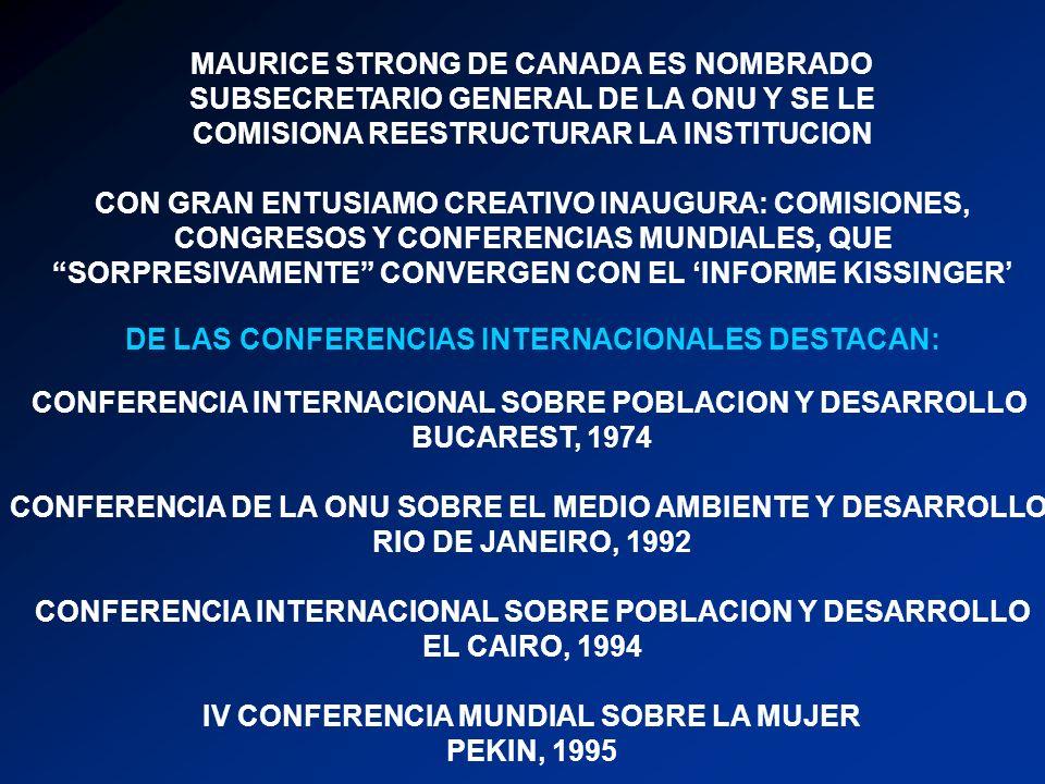 MAURICE STRONG DE CANADA ES NOMBRADO