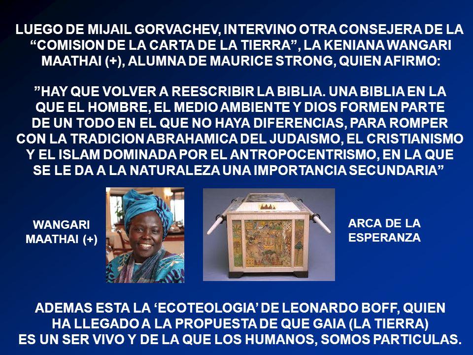 LUEGO DE MIJAIL GORVACHEV, INTERVINO OTRA CONSEJERA DE LA