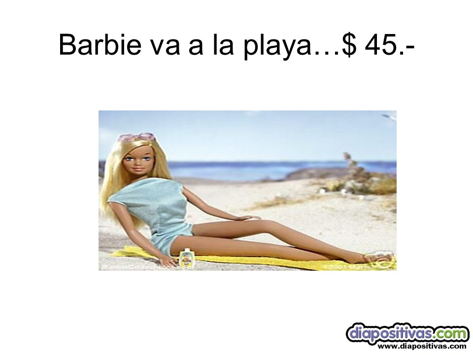 Barbie va a la playa…$ 45.-