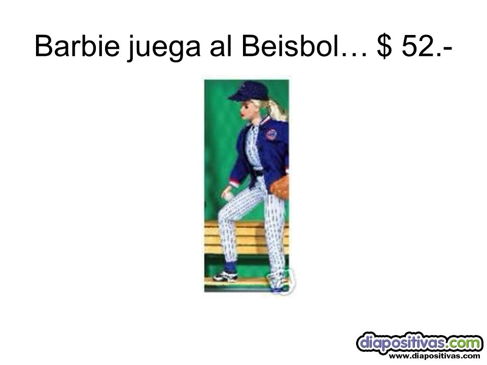 Barbie juega al Beisbol… $ 52.-