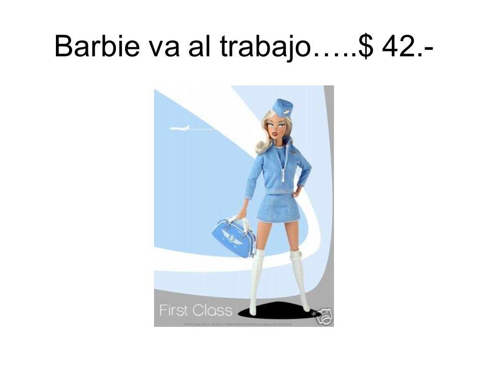 Barbie va al trabajo…..$ 42.-