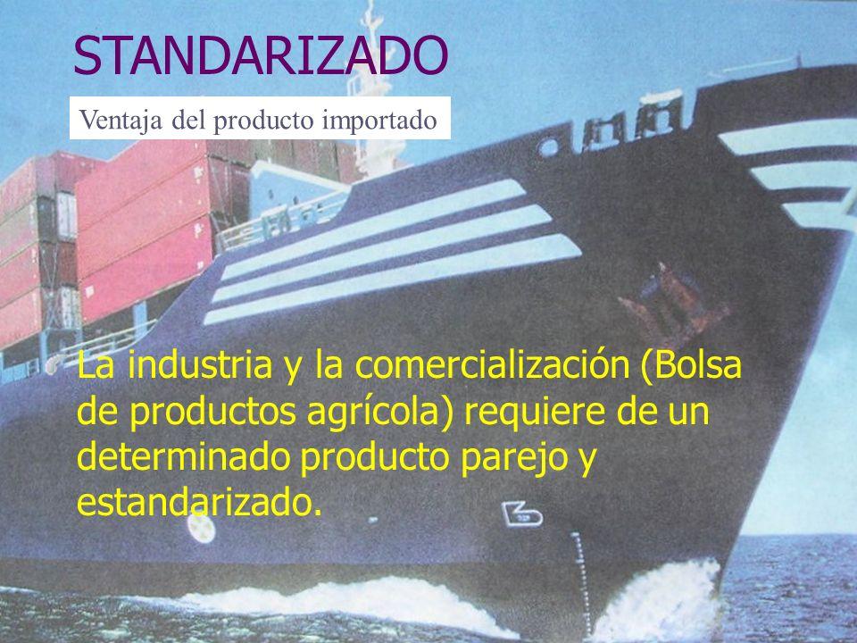 STANDARIZADO Ventaja del producto importado.