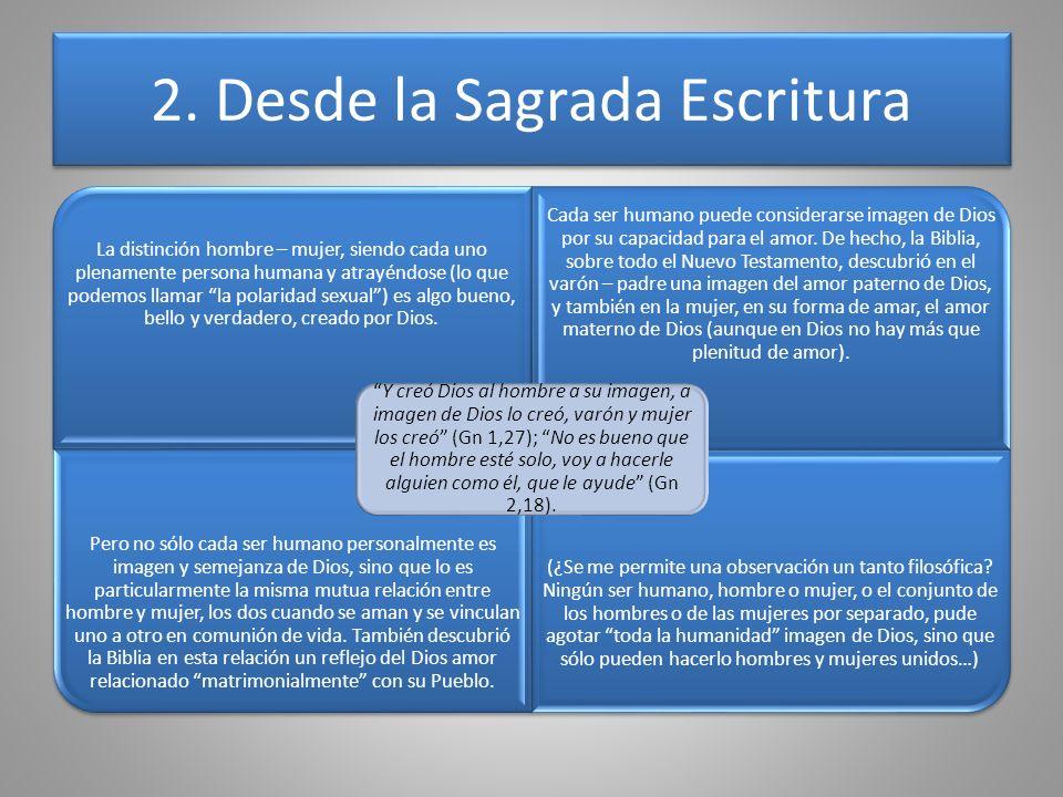 2. Desde la Sagrada Escritura