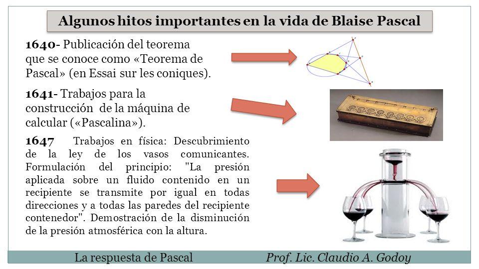 Algunos hitos importantes en la vida de Blaise Pascal