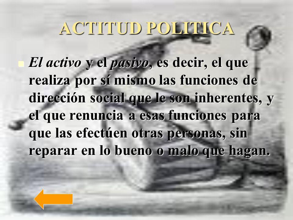 ACTITUD POLITICA