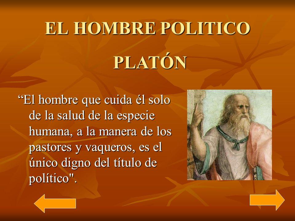 EL HOMBRE POLITICO PLATÓN
