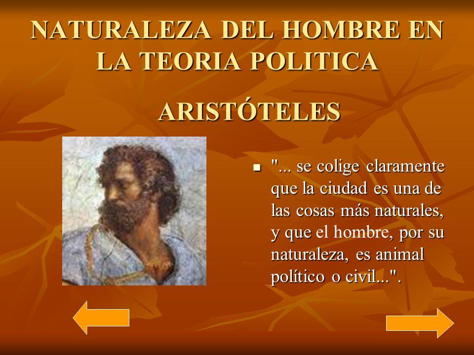 NATURALEZA DEL HOMBRE EN LA TEORIA POLITICA