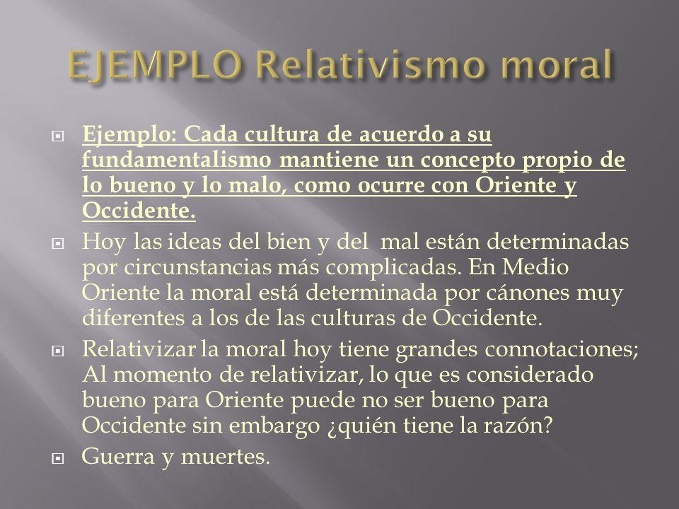 EJEMPLO Relativismo moral