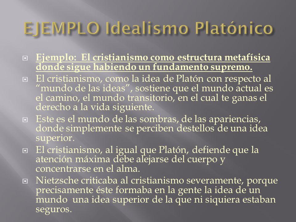 EJEMPLO Idealismo Platónico