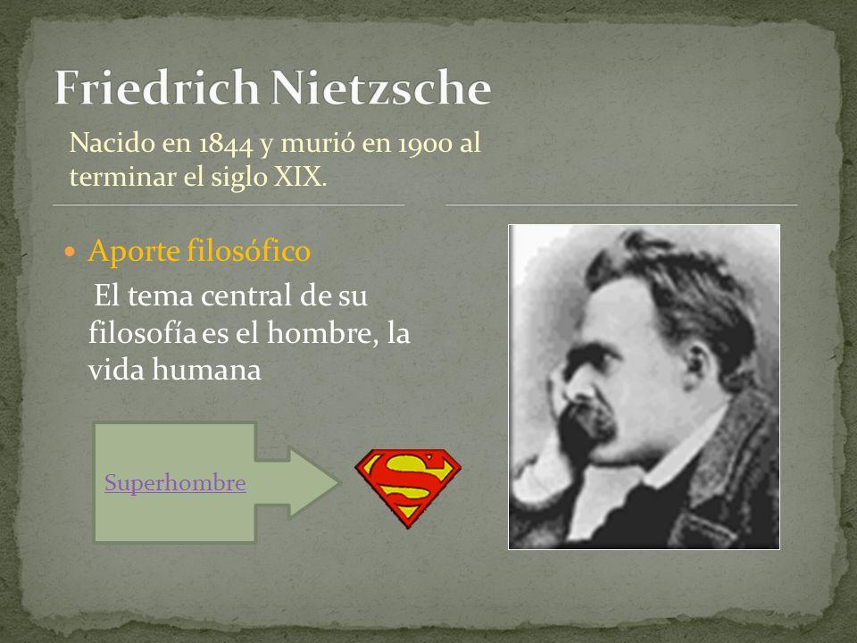 Friedrich Nietzsche Aporte filosófico