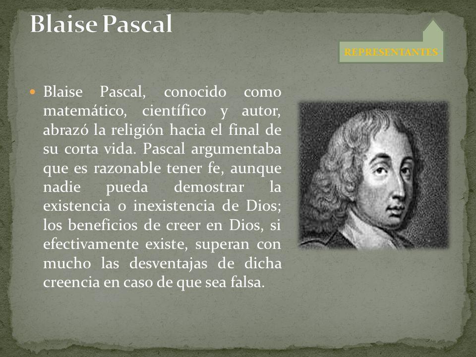 Blaise Pascal REPRESENTANTES.