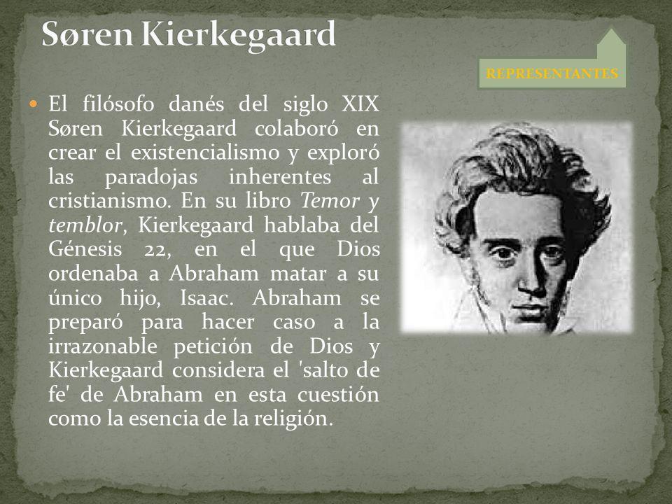 Søren Kierkegaard REPRESENTANTES.
