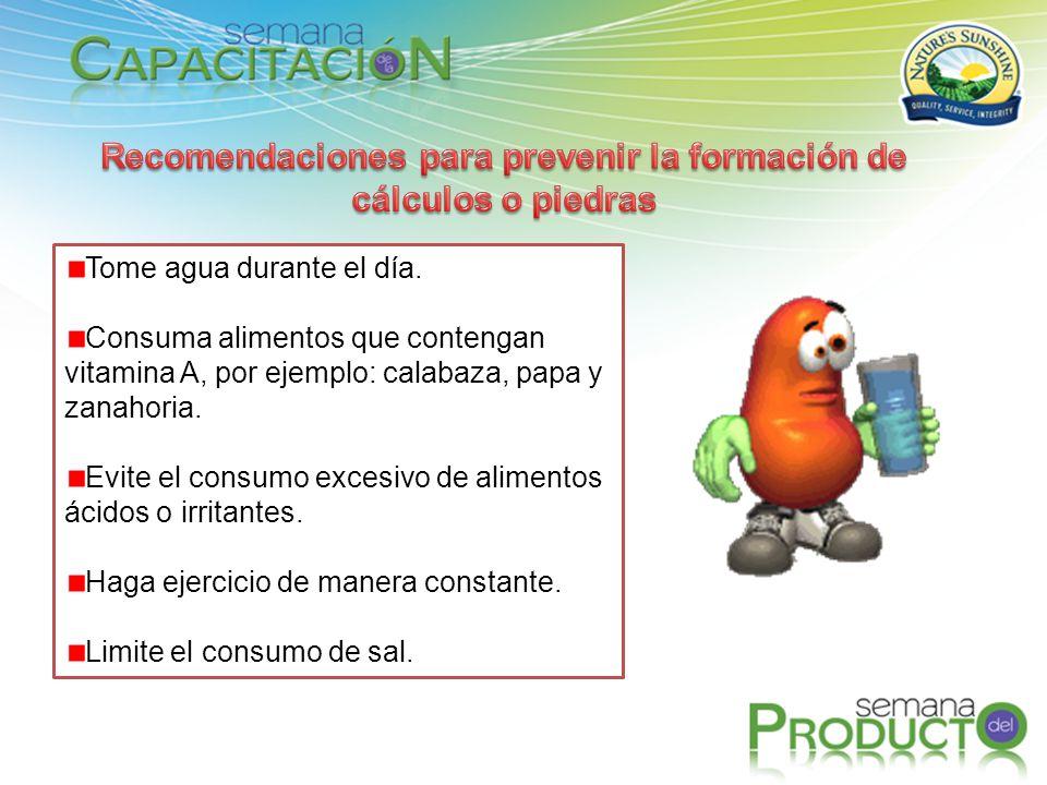 Recomendaciones para prevenir la formación de cálculos o piedras