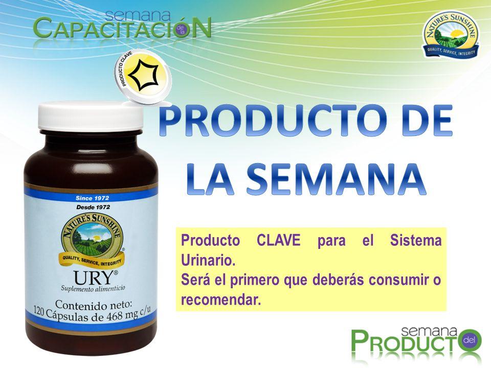 PRODUCTO DE LA SEMANA Producto CLAVE para el Sistema Urinario.