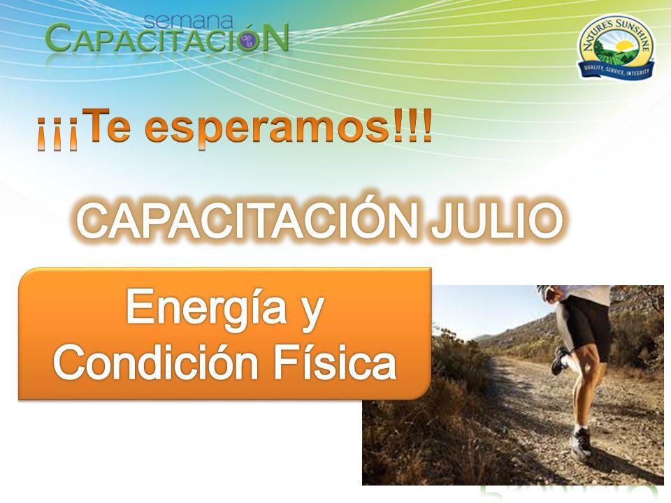 ¡¡¡Te esperamos!!! CAPACITACIÓN JULIO Energía y Condición Física