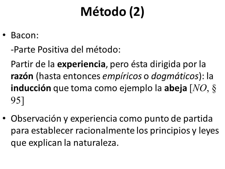 Método (2) Bacon: -Parte Positiva del método: