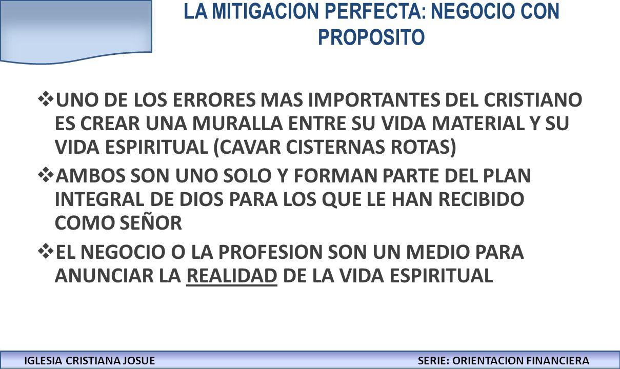 LA MITIGACION PERFECTA: NEGOCIO CON PROPOSITO