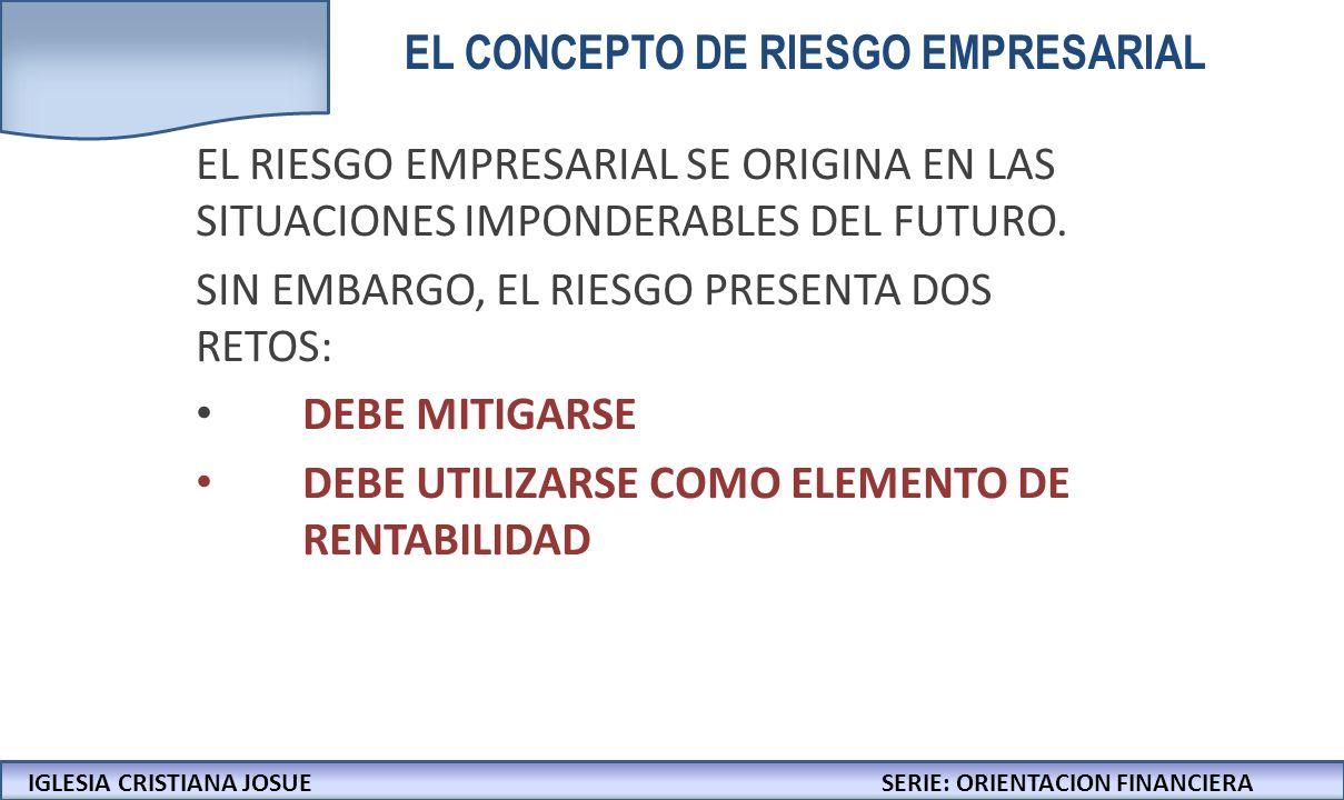 EL CONCEPTO DE RIESGO EMPRESARIAL