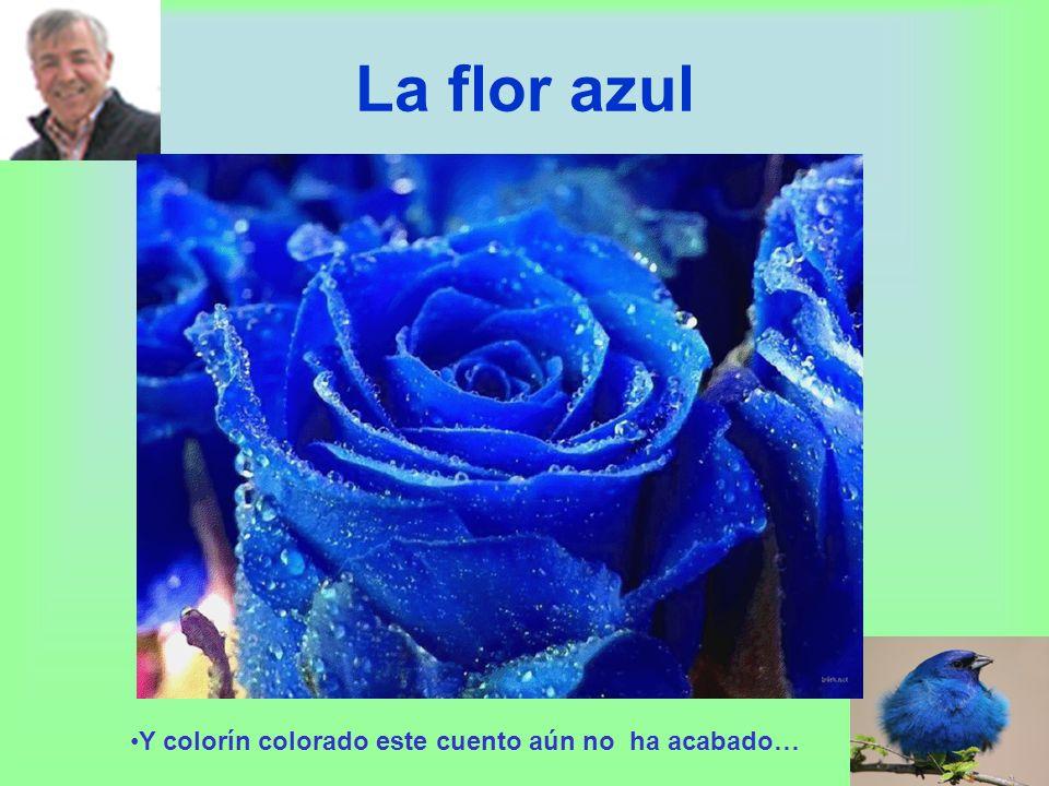 La flor azul Y colorín colorado este cuento aún no ha acabado…