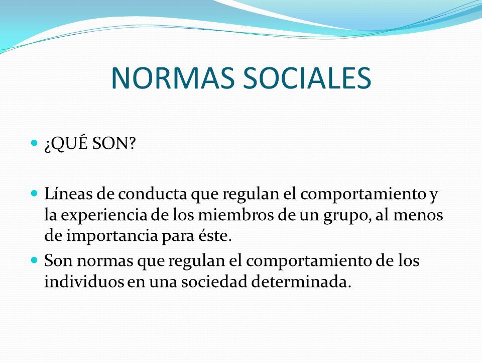 NORMAS SOCIALES ¿QUÉ SON