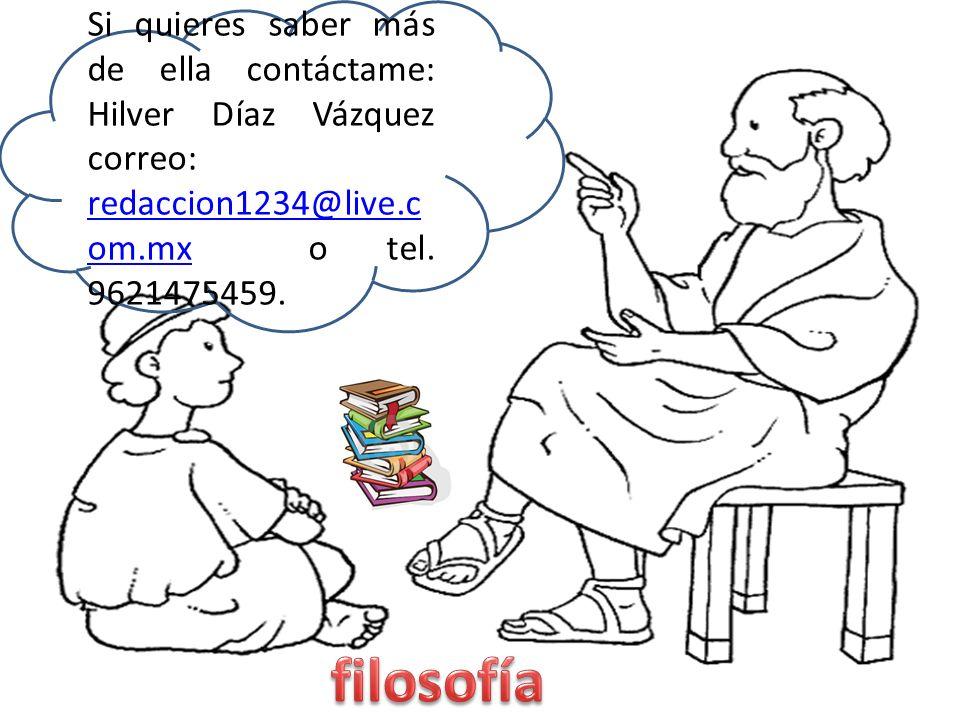 Si quieres saber más de ella contáctame: Hilver Díaz Vázquez correo: redaccion1234@live.com.mx o tel.