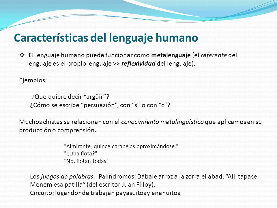 Características del lenguaje humano