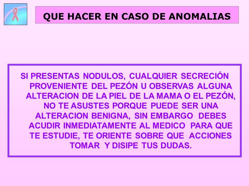 QUE HACER EN CASO DE ANOMALIAS